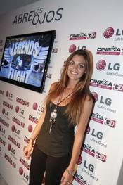 Amaia Salamanca en un acto de presentación de televisores