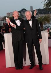 Luc Dardenne y Jean-Pierre Dardenne en la ceremonia de Clausura de Cannes 2011
