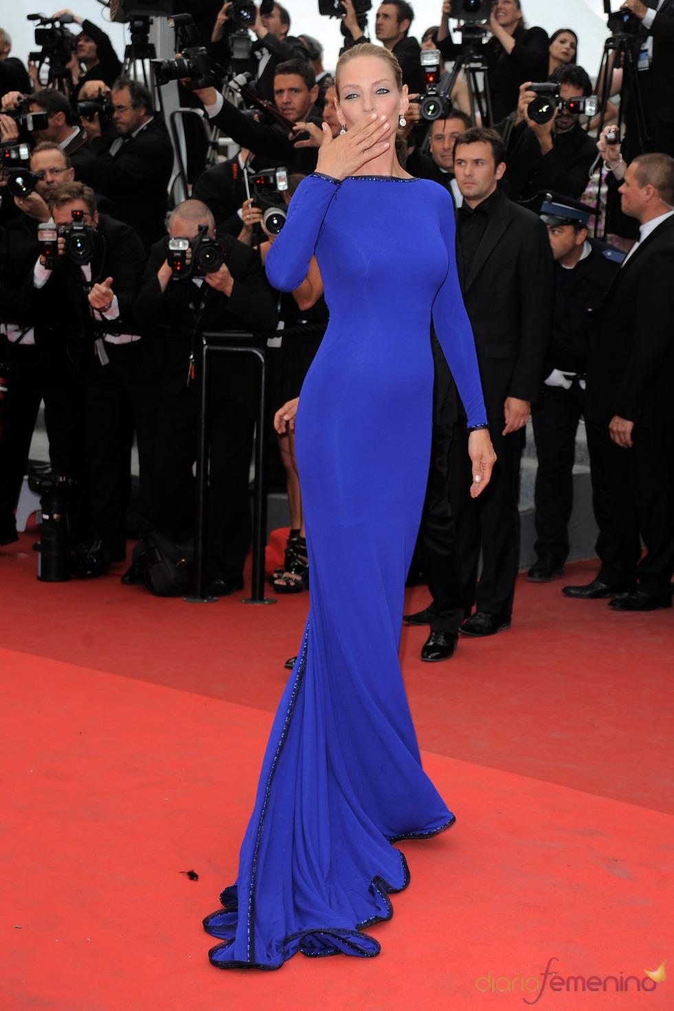 Uma Thurman en la ceremonia de Clausura de Cannes 2011