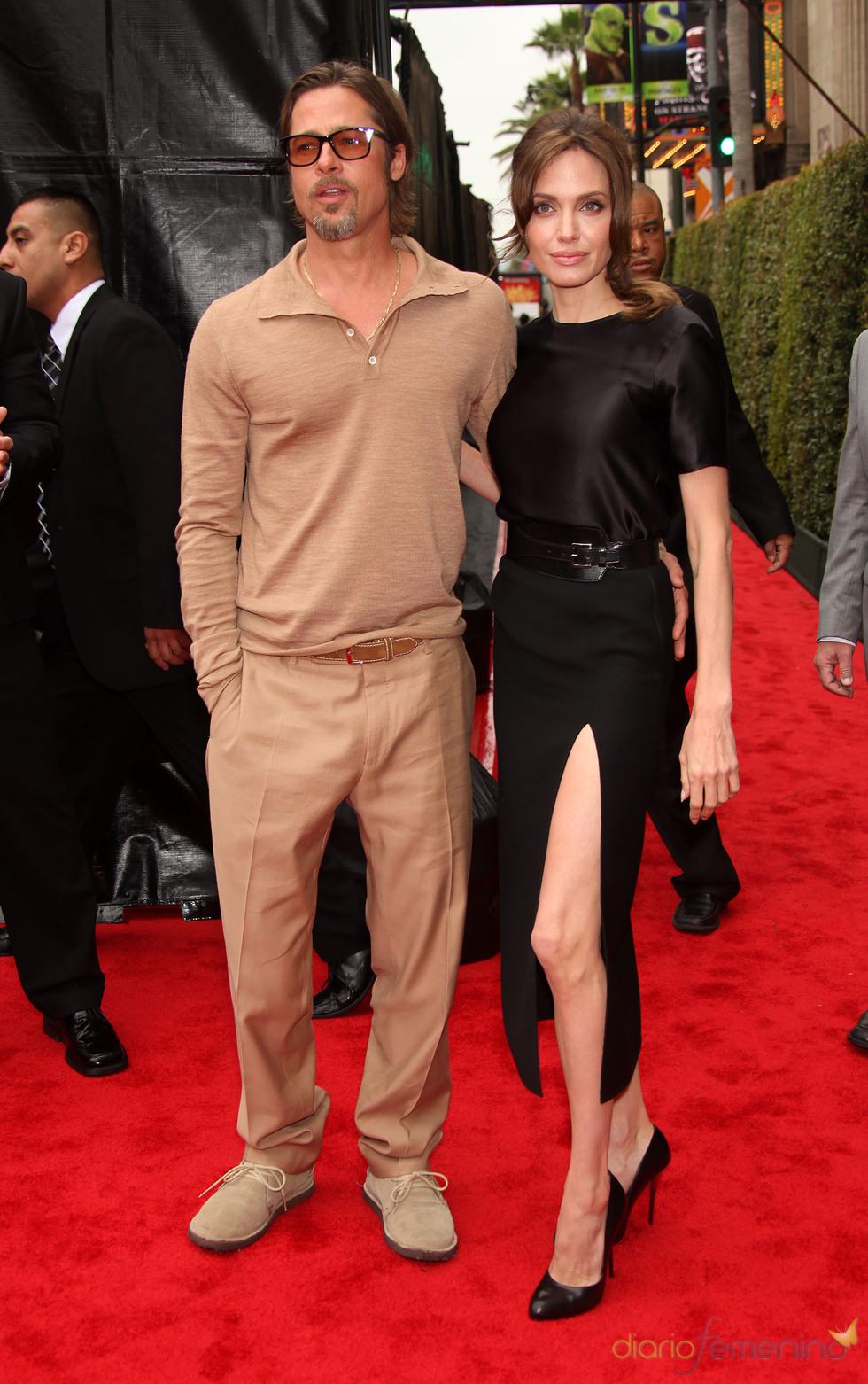 Brad Pitt y Angelina Jolie en el estreno de 'Kung Fu Panda 2' en Los Ángeles