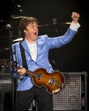 Paul McCartney en un concierto en Río de Janeiro