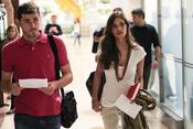 Sara Carbonero e Iker Casillas, en el aeropuerto rumbo a Johannesburgo