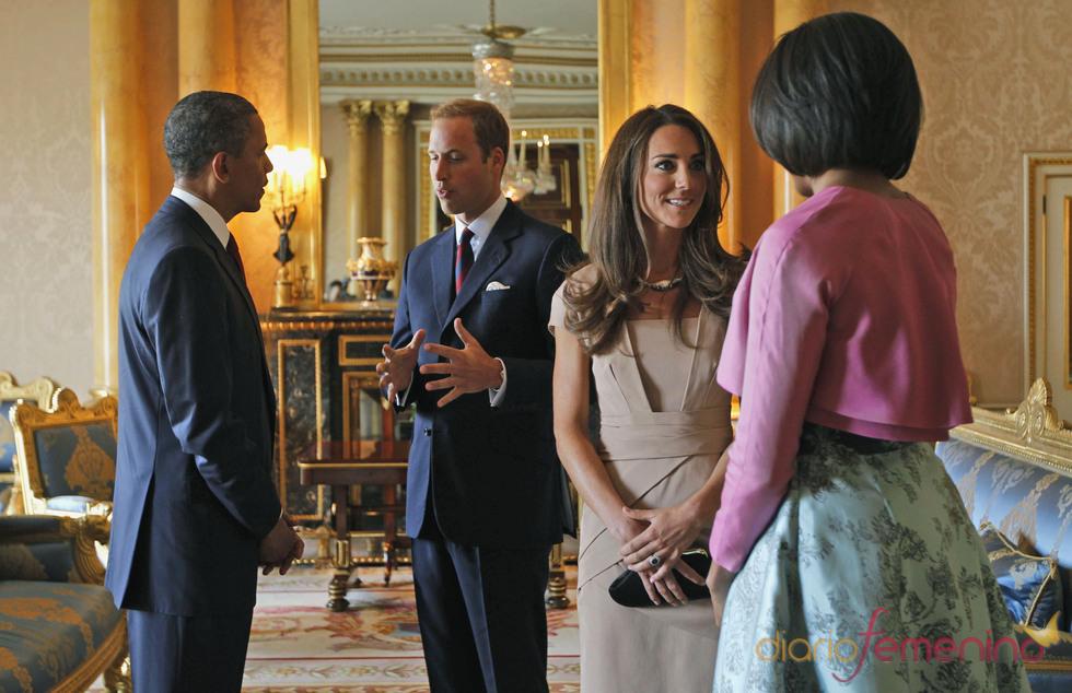 Guillermo de Inglaterra y Kate Middleton se reunen con Barack y Michelle Obama