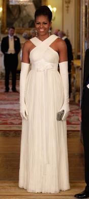 Michelle Obama en la cena de gala en honor a su visita en Inglaterra