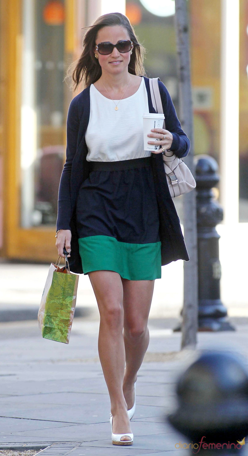 Pippa Middleton con un vestido de Zara