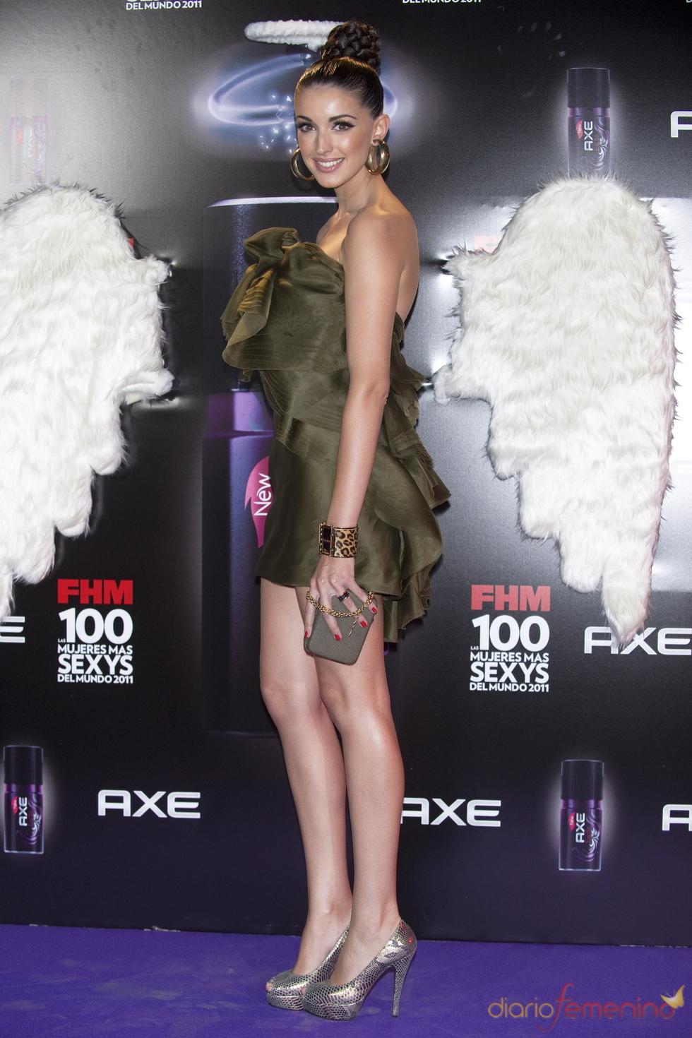 Noelia López durante los Premios FHM 'Las 100 mujeres más sexys 2011'