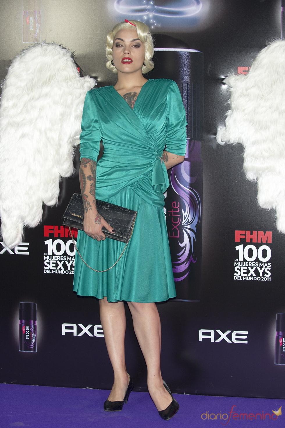 Vinila Von Bismark durante los Premios FHM 'Las 100 mujeres más sexys 2011'