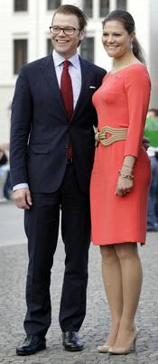 Victoria de Suecia y Daniel Westling visitan Berlín