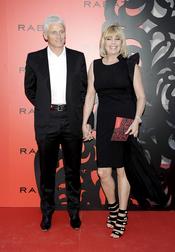 Bárbara Rey y su novio en la presentación de una joyería