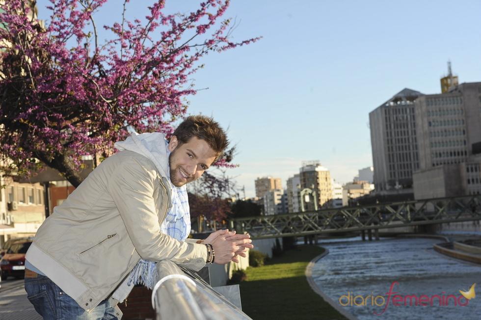 Pablo Alborán posando en Málaga
