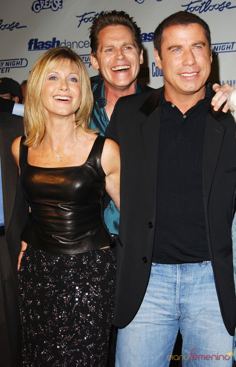 Olivia Newton-John, Jeff Conaway and y John Travolta, recordando 'Grease'