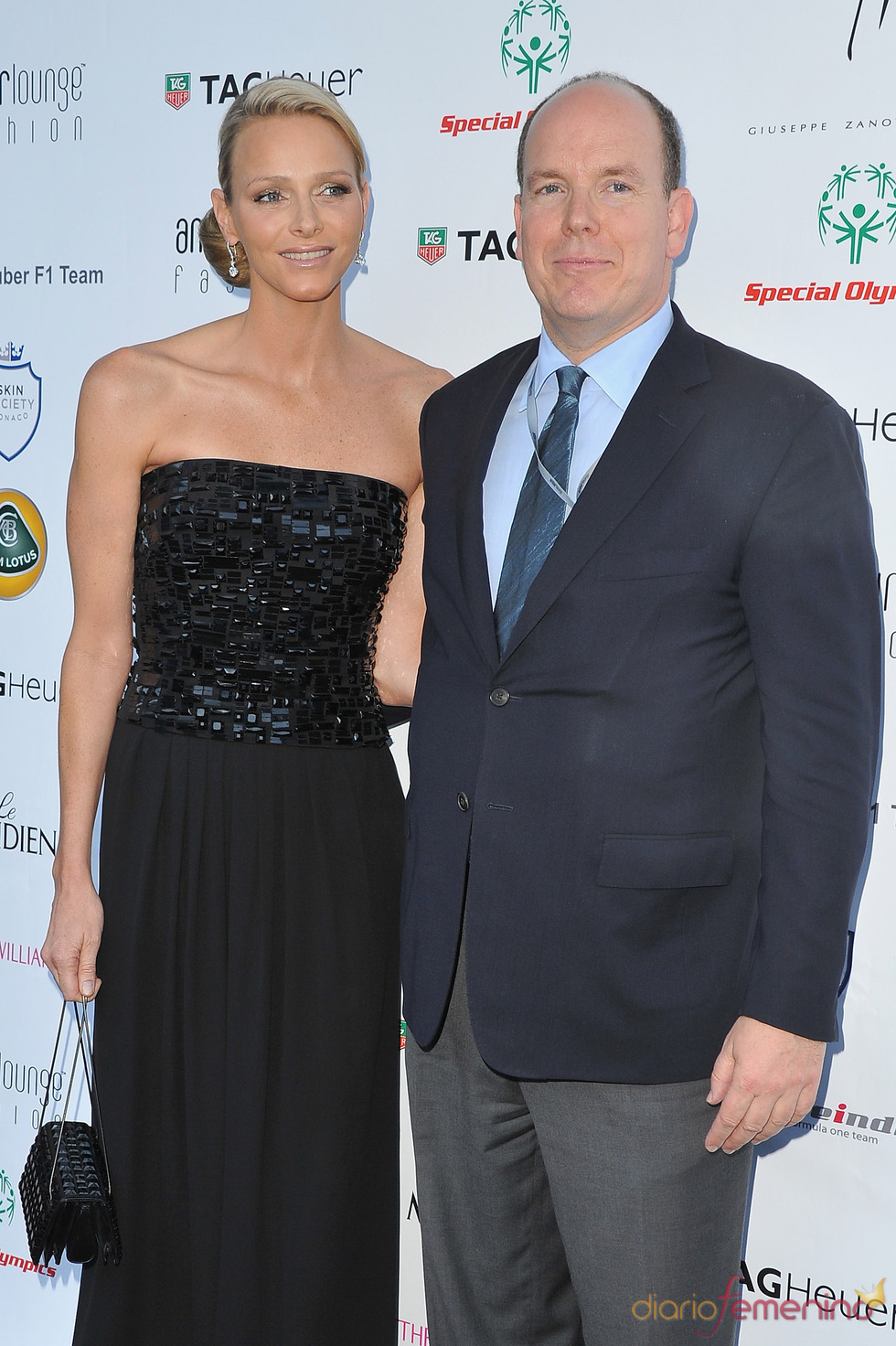Alberto de Mónaco y Charlene Wittstock en la Amber Lounge Fashion 2011