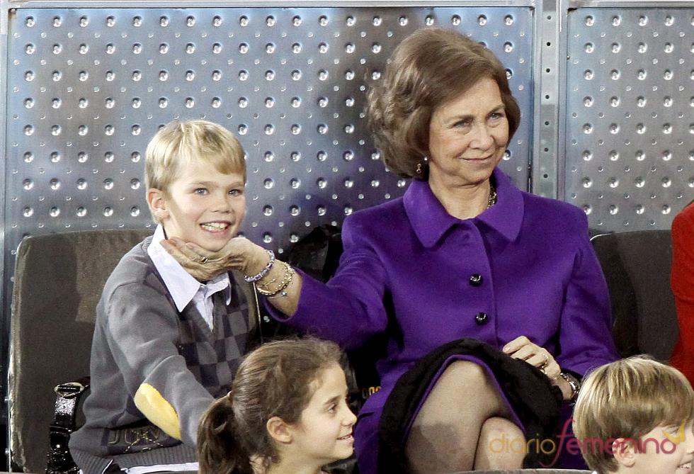 La reina Sofía con su nieto, Miguel Urdangarín