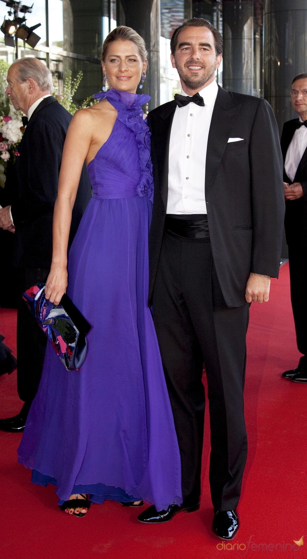 Los príncipes Nikolaos y Tatiana de Grecia en el cumpleaños de Máxima de Holanda