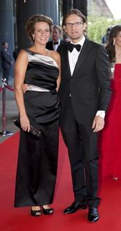 Los príncipes Bernhard y Annette de Holanda en el cumpleaños de Máxima de Holanda