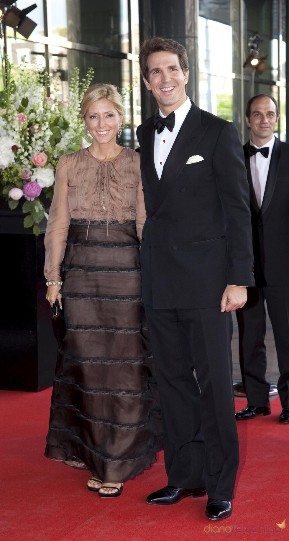 Los príncipes Pavlos y Marie Chantal de Grecia en el cumpleaños de Máxima de Holanda