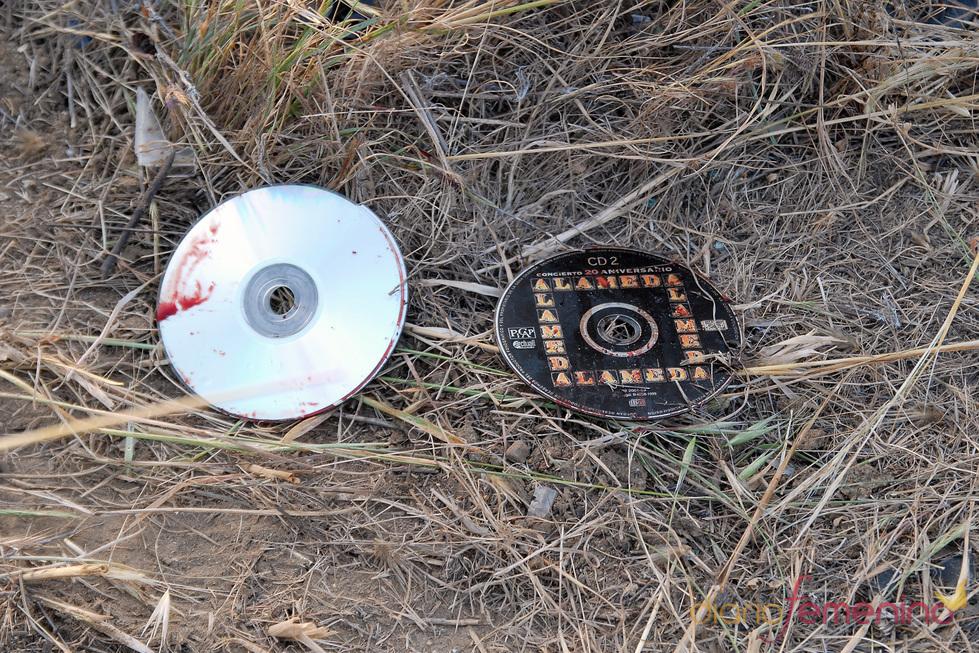 Discos del coche de Ortega Cano cubiertos de sangre