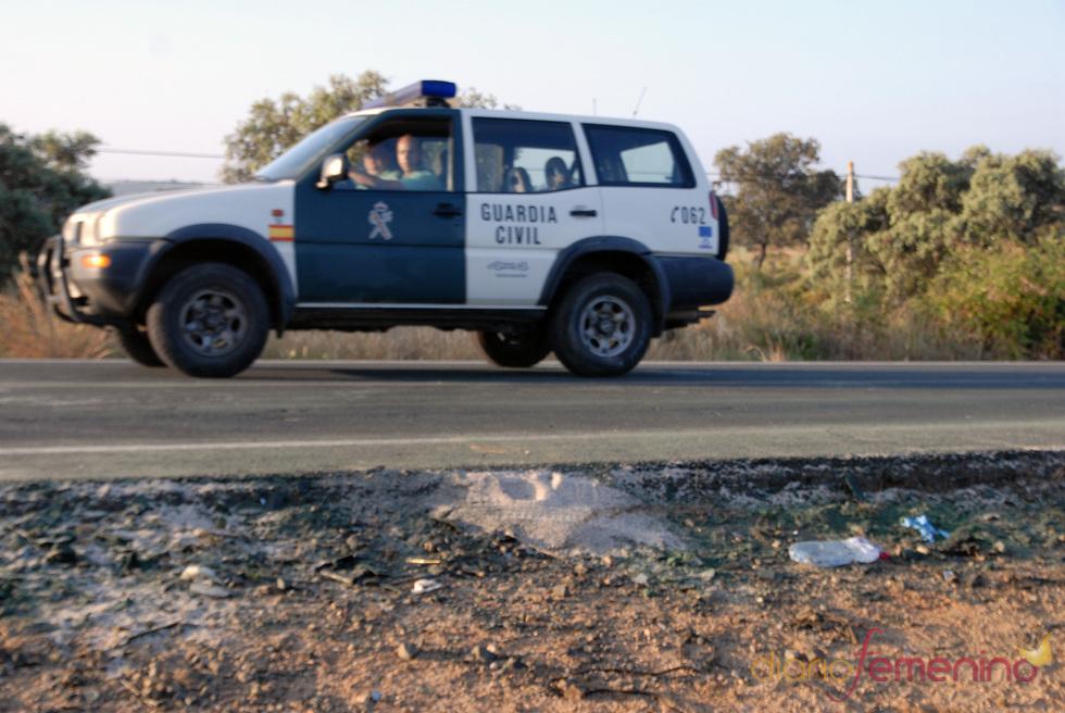 La Guardia Civil acude al lugar del accidente de Ortega Cano