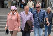 Amador y Gloria Mohedano visitan a José Ortega Cano en el hospital de Sevilla