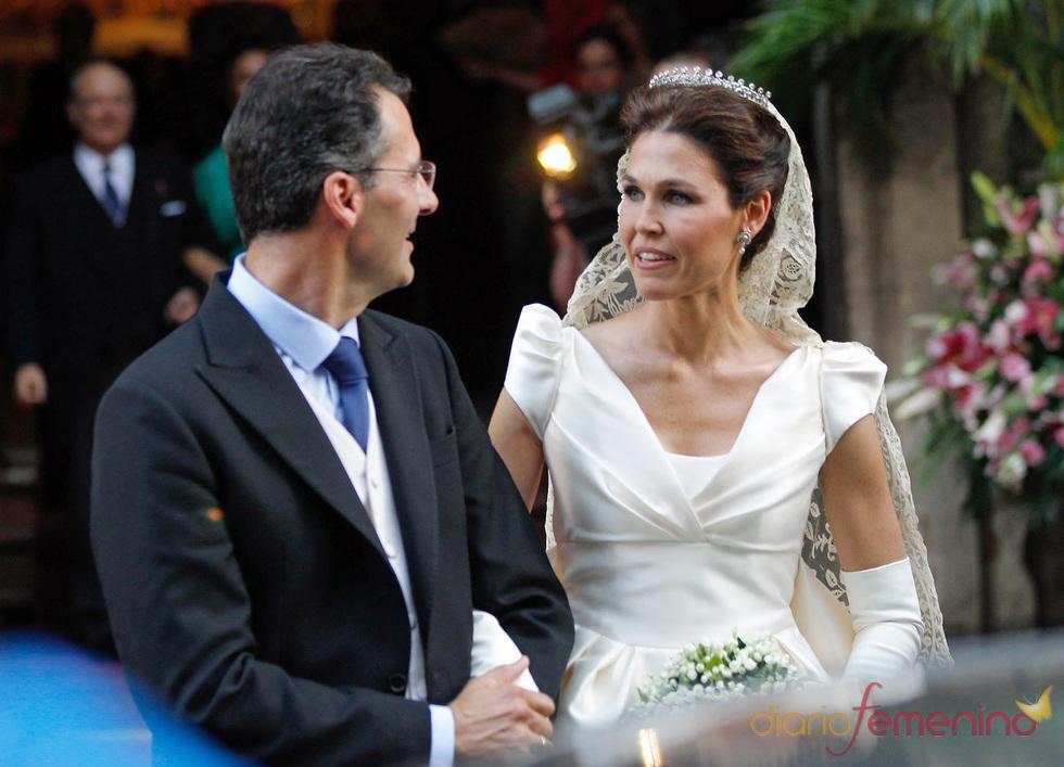 Carmen Solís Tello y Agustín Aranda durante su ceremonia de boda