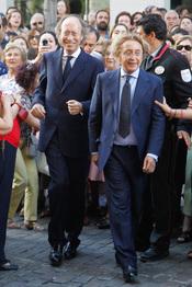 Los diseñadores Vittorio y Luchino en la boda de Carmen Solís Tello