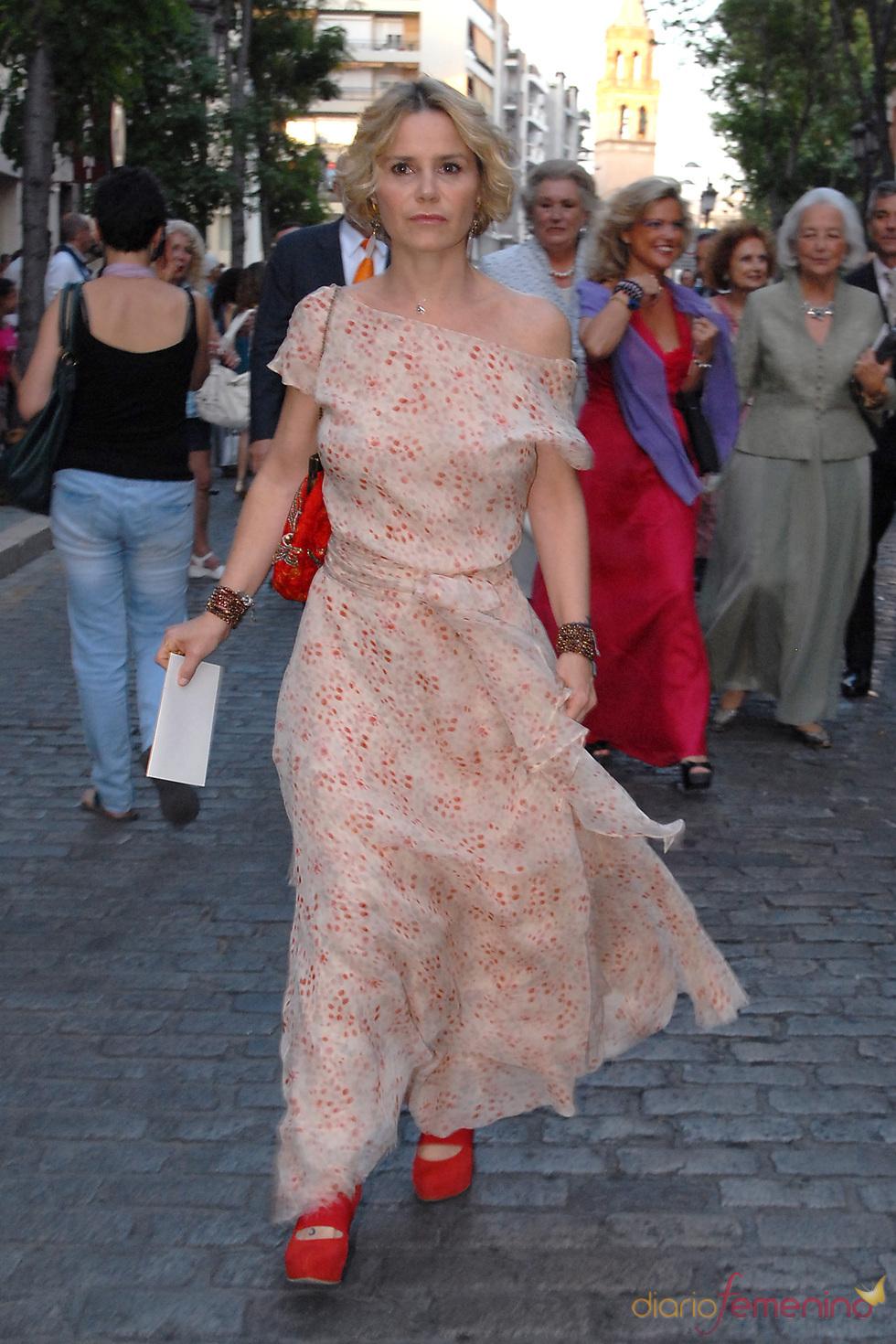 Eugenia Martínez de Irujo en la boda de Carmen Solís Tello