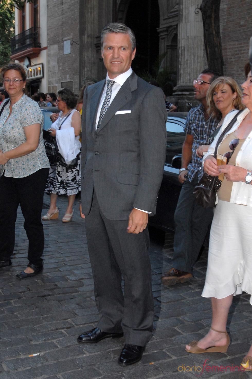 José Antonio Ruiz 'Espartaco' en la boda de Carmen Solís Tello
