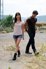 Maxi Iglesias y Úrsula Corberó en el rodaje de 'X3PD'