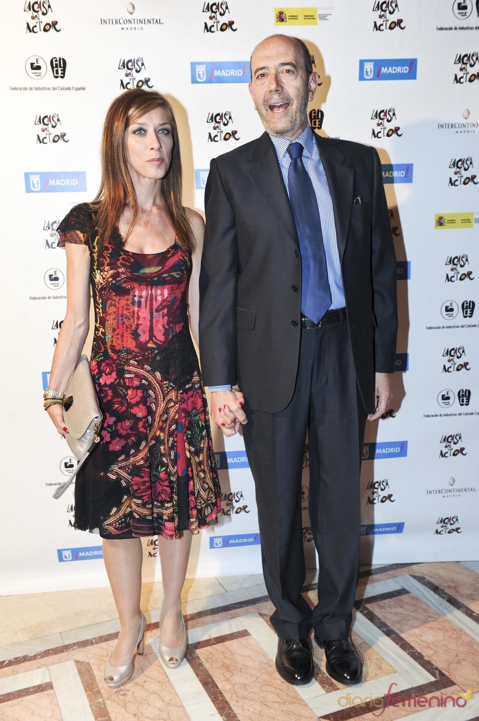 Eva Isanta y Miguel Rellán durante los Premios de la Fundación Casa del Actor 2011