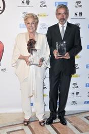 Lola Herrera e Imanol Arias durante los Premios de la Fundación Casa del Actor 2011