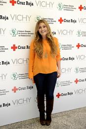 Amaia Montero en una evento de Cruz Roja