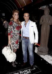 Raquel Mosquera y Luis Rollán en su despedida de soltero