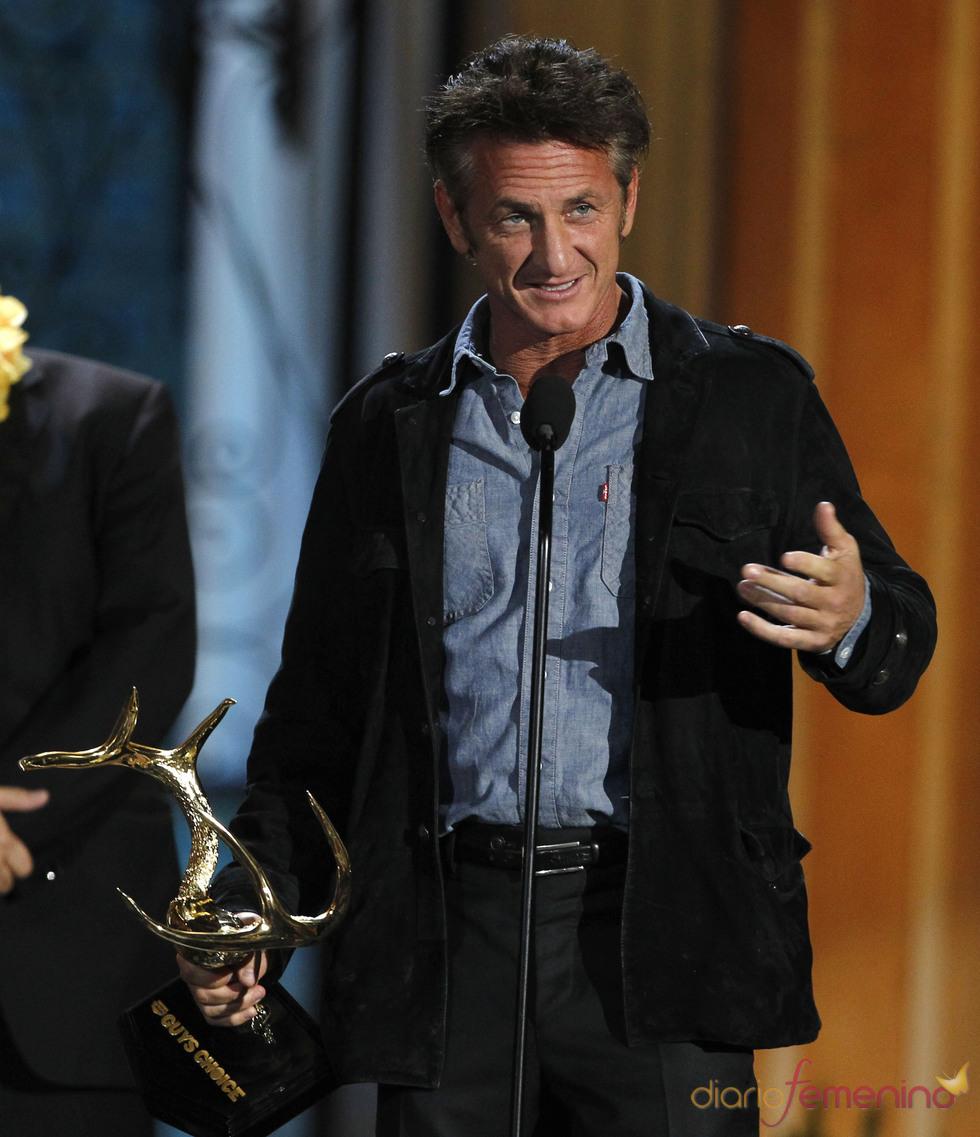 Sean Penn en la gala de los 'Spike TV's Guys Choice Awards'