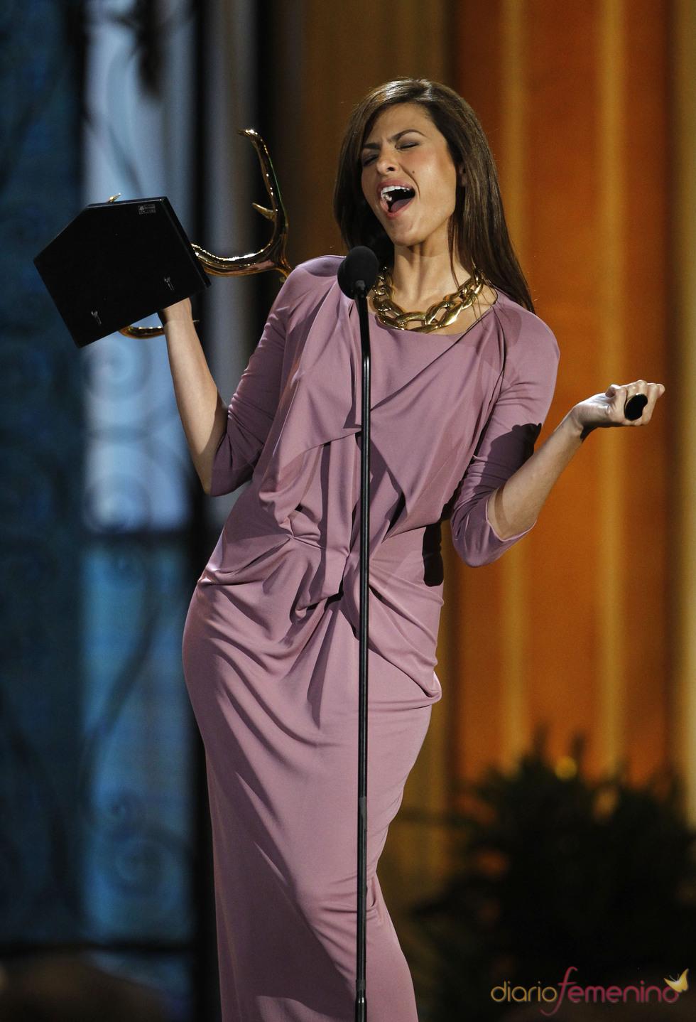 Eva Mendes en la gala de los 'Spike TV's Guys Choice Awards'