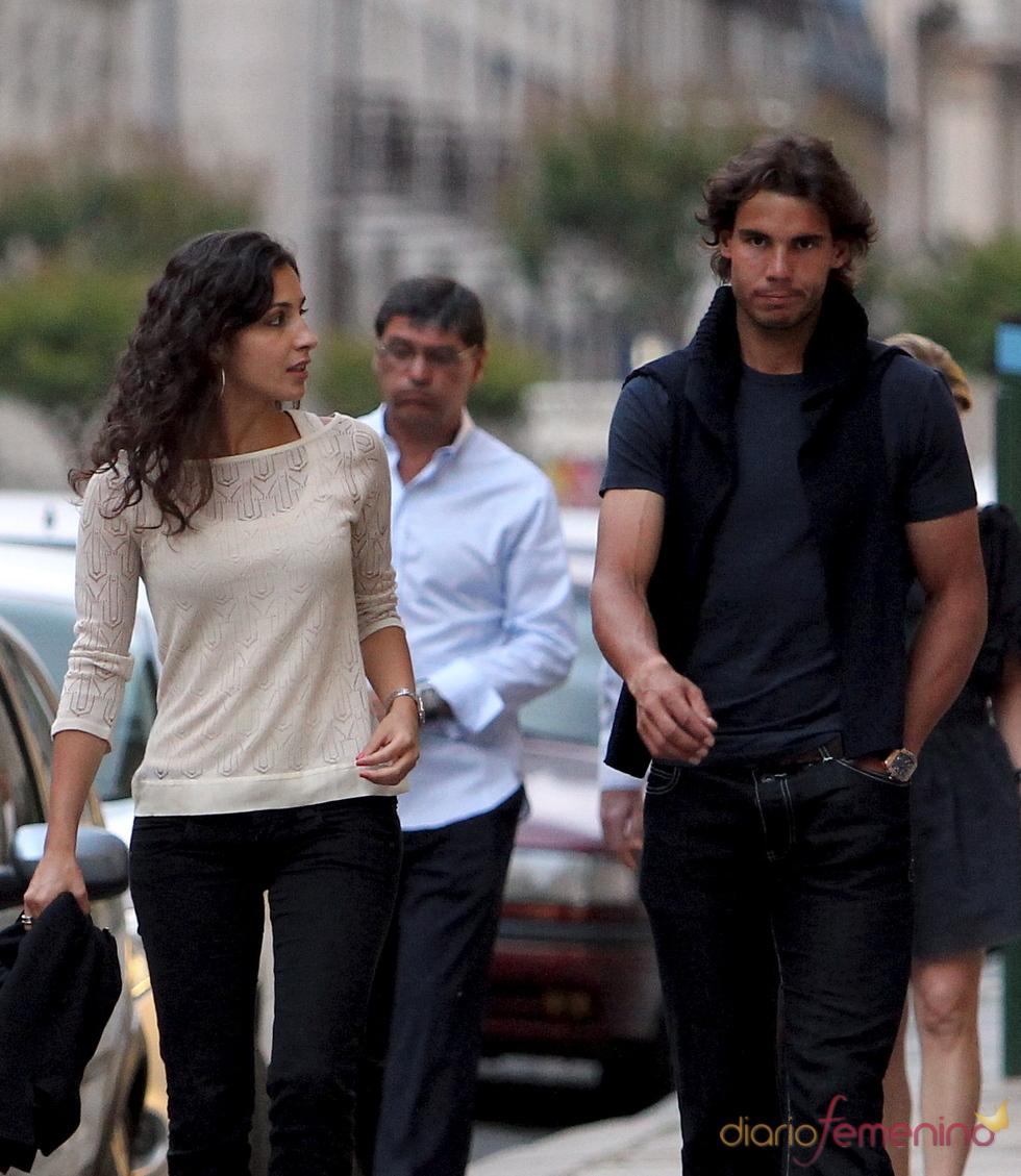 Rafa Nadal y Xisca Perelló pasean por París antes de la final
