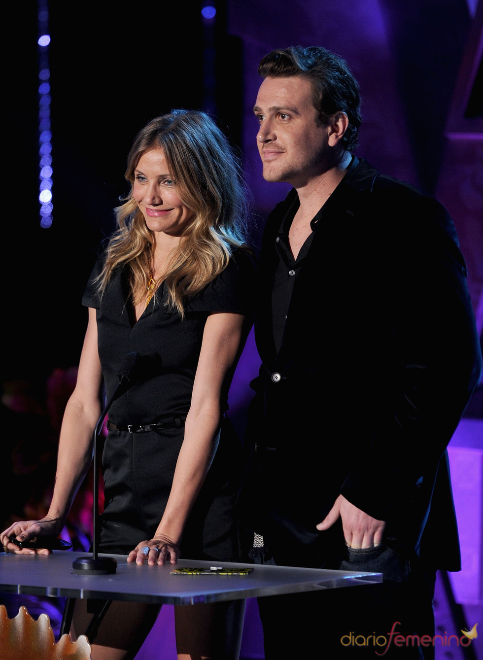 Cameron Diaz y Jason Segel en la gala de los premios MTV Awards 2011