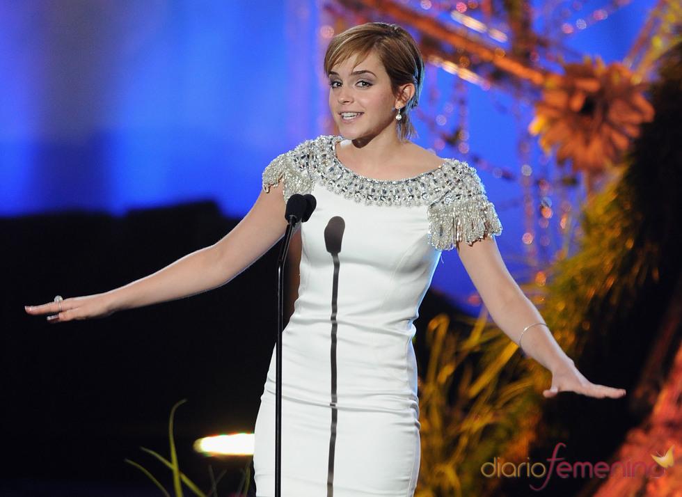 Emma Watson durante la gala de los premios MTV Movie Awards 2011