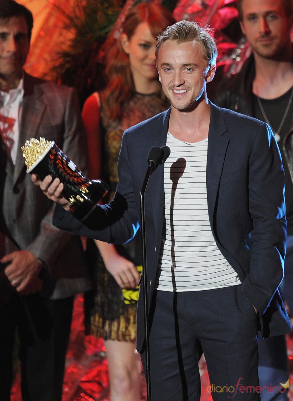 Tom Felton agradecido con su premio MTV Movie Award 2011