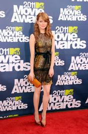 Emma Stone a su llegada a los premios MtV Movie Award 2011