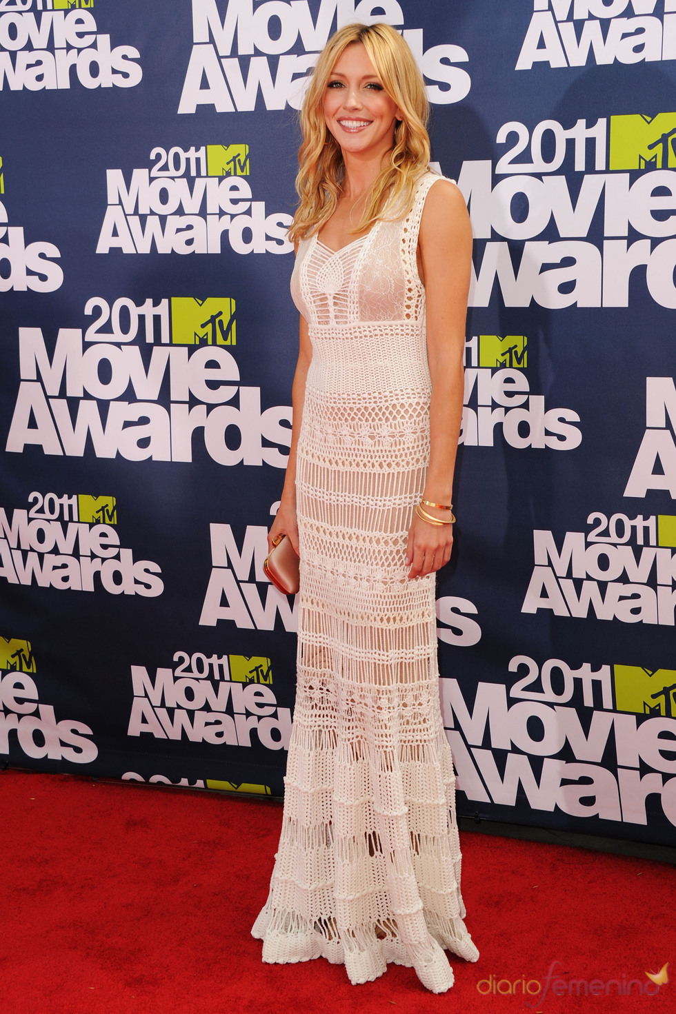 Katie Cassidy a su llegada a los premios MTV Movie Awards 2011