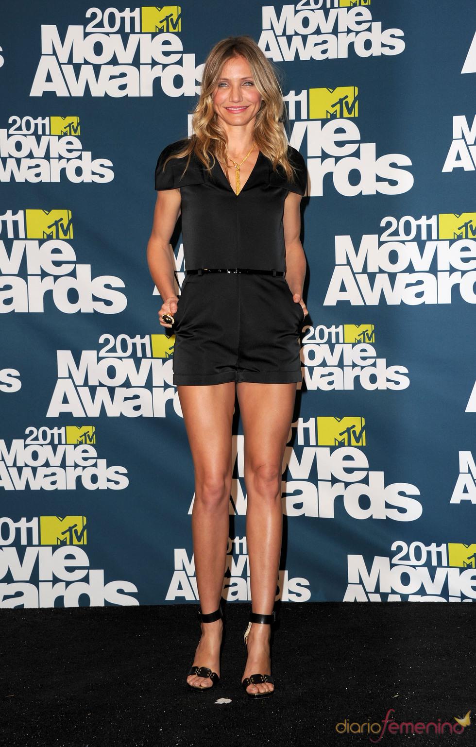 Cameron Diaz a su llegada a los premios MTV Movie Awards 2011