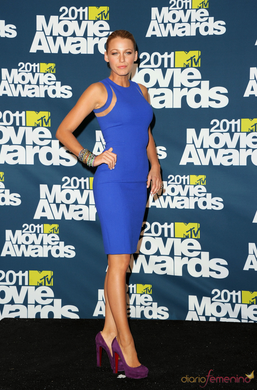 Blake Lively a su llegada a los premios MTV Movie Awards 2011