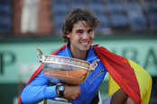 Rafa Nadal celebra su sexta victoria en Roland Garrós