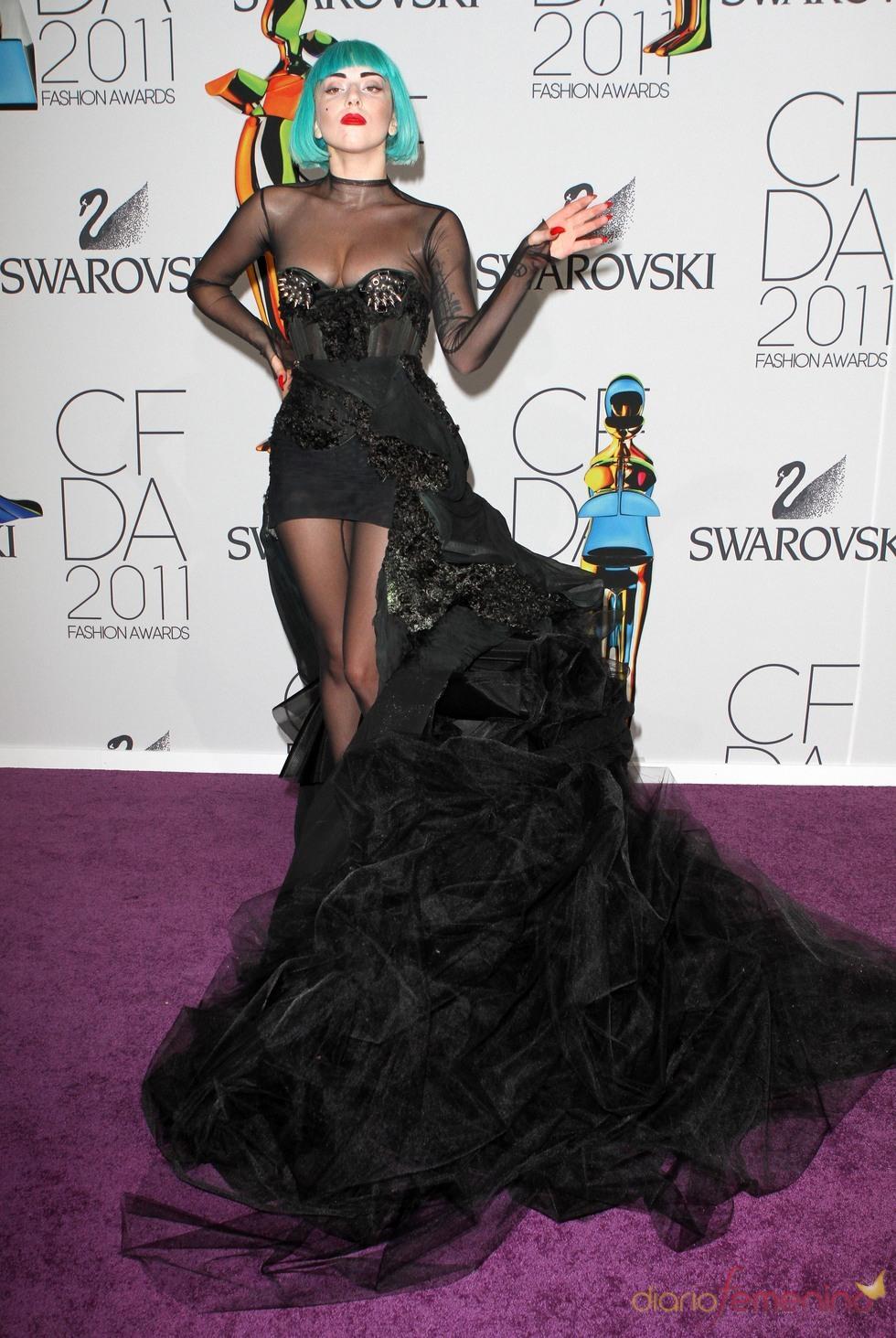 Lady Gaga en los Premios de Moda CFDA 2011 en Nueva York
