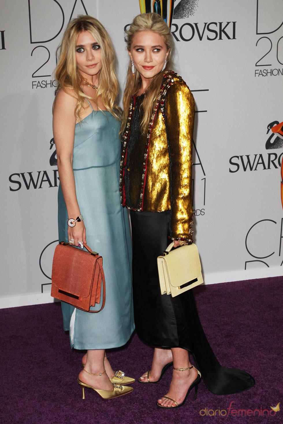 Ashley y Mary-Kate Olsen en los Premios de Moda CFDA 2011