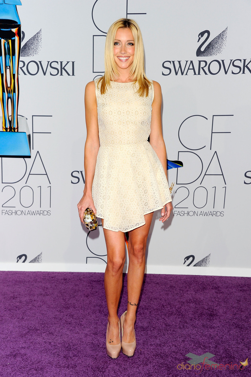 Katie Cassidy en los Premios de Moda CFDA 2011