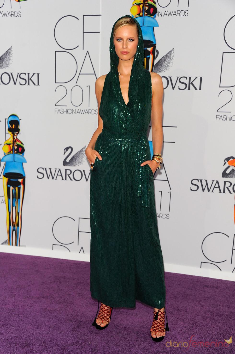 Karolina Kurkova en los Premios de Moda CFDA 2011