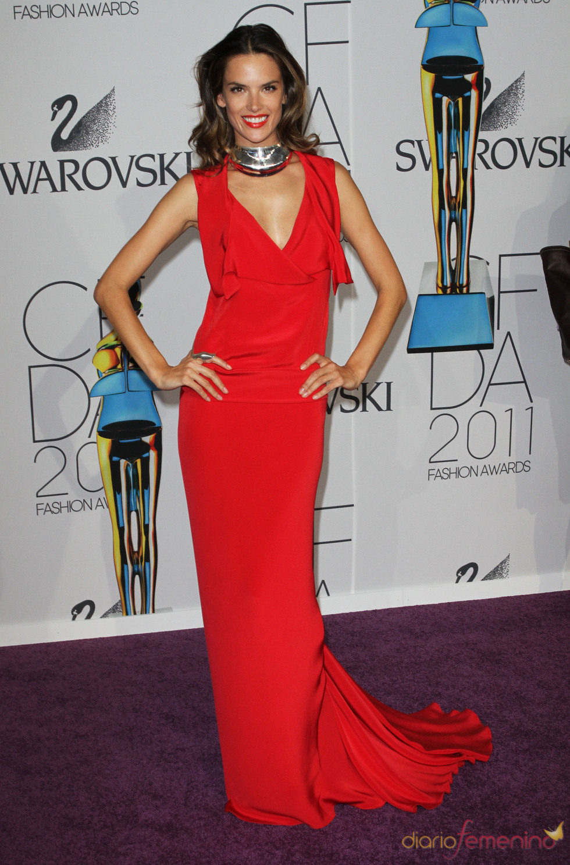 Alessandra Ambrosio en los Premios de Moda CFDA 2011