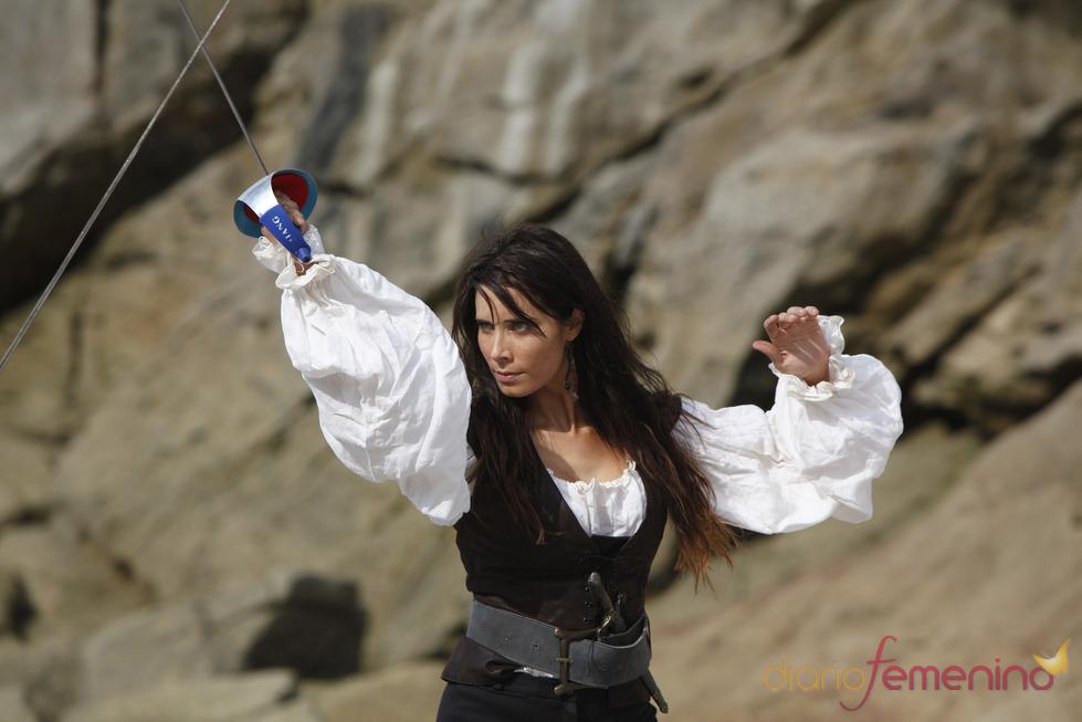 Pilar Rubio lucha en 'Piratas'