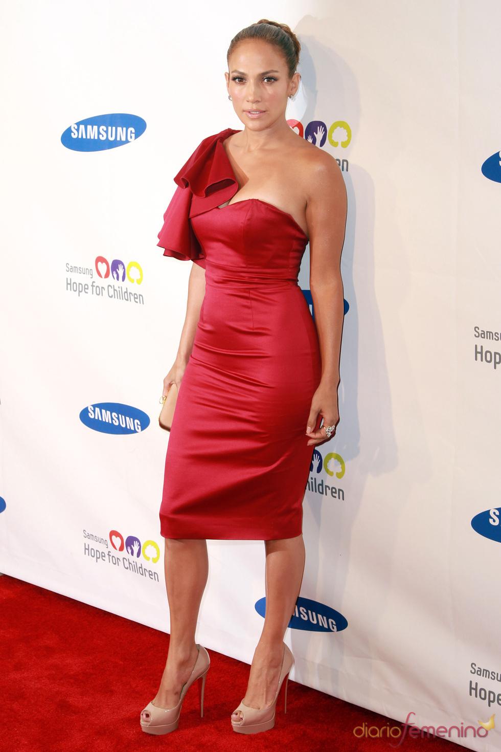 Jennifer López en una gala benéfica